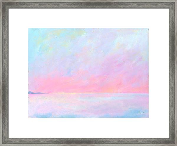 Sunup Over Kailua Framed Print