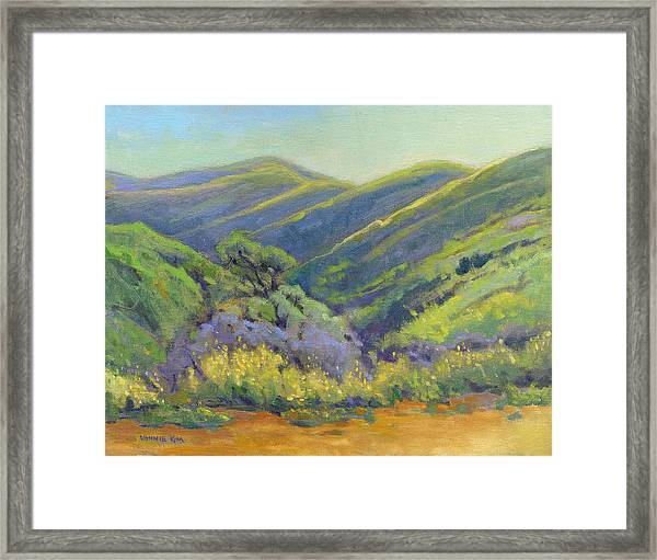 Framed Print featuring the painting Super Bloom 2 by Konnie Kim