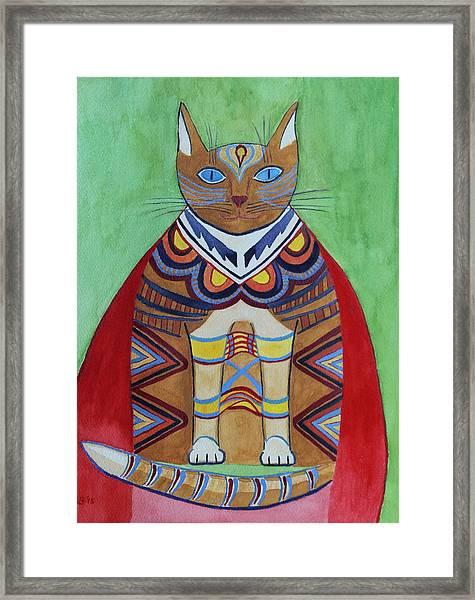 Super Cat Framed Print