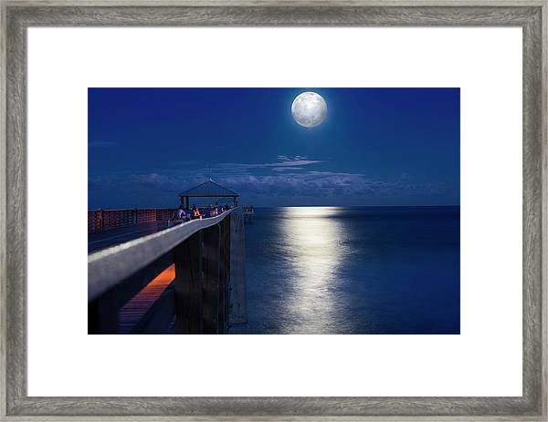 Super Moon At Juno Framed Print