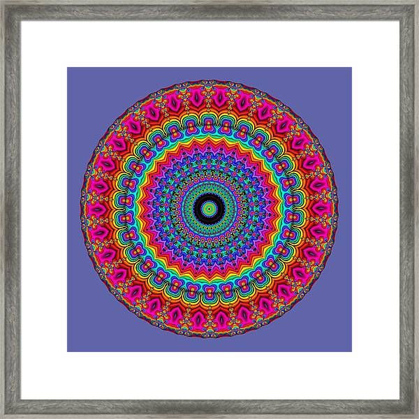 Super Rainbow Mandala Framed Print