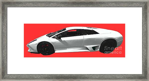 Supercar In White Art Framed Print