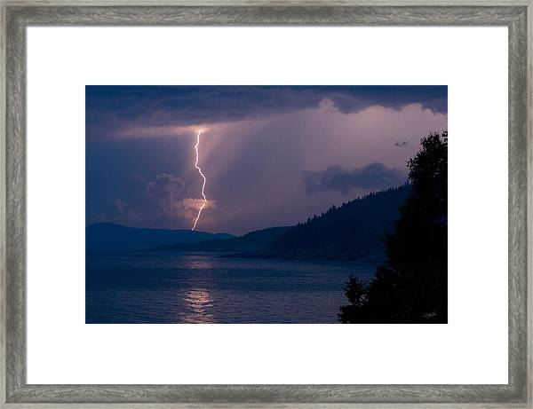 Superior Lightning     Framed Print