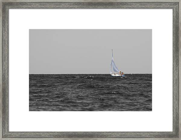 Framed Print featuring the photograph Superior Sailing by Dylan Punke