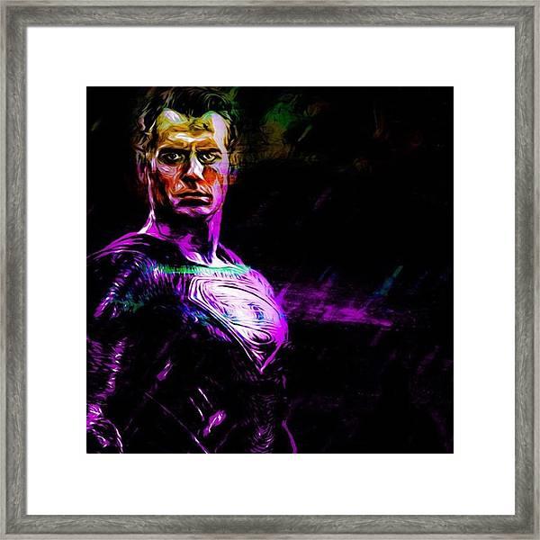 #superman #supermanisback Framed Print