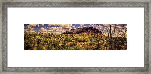 Superstition Mountain And Wilderness Framed Print