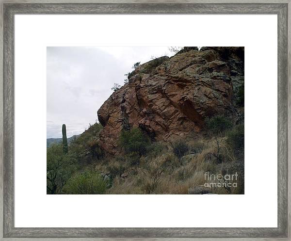 Superstition Mountain Big Bolder Framed Print