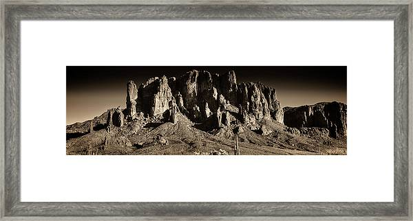 Superstition Mountain  Framed Print