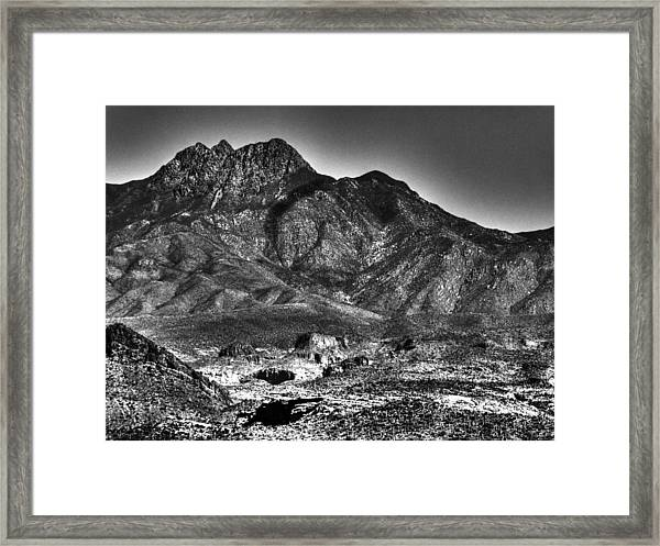 Four Peaks From Lost Dutchman State Park Framed Print