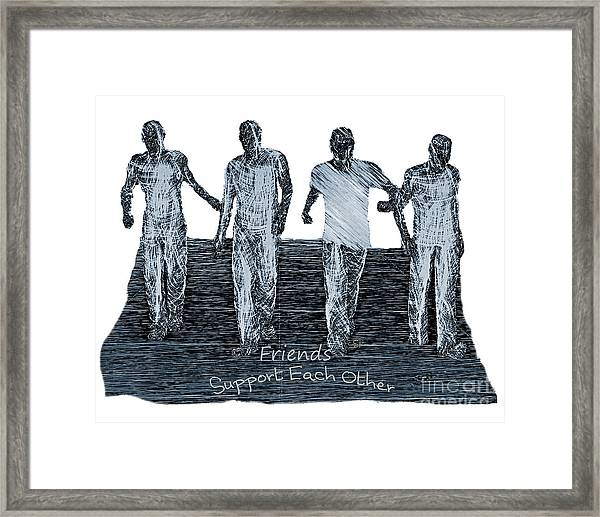 Support Each Other Framed Print