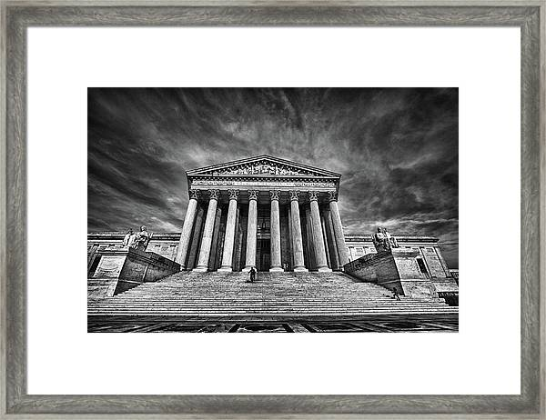 Supreme Court Building In Black And White Framed Print