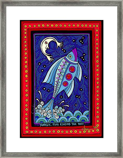Surely Fish Knows The Way Framed Print
