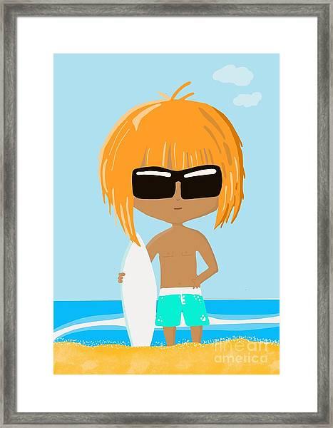 Surf Dude Framed Print