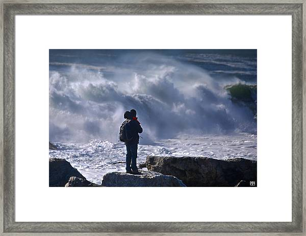 Surf Watcher Framed Print