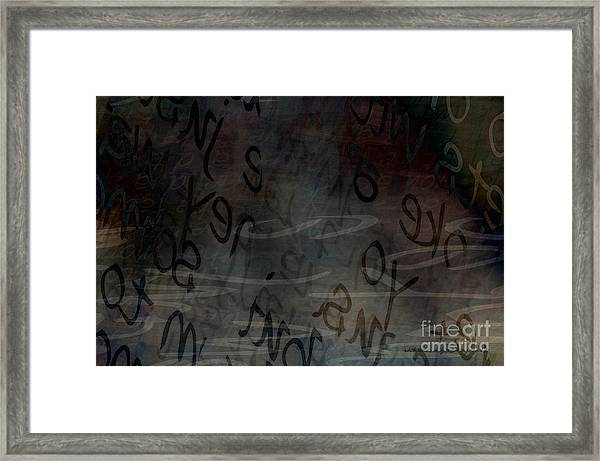 Surfacing Words Framed Print