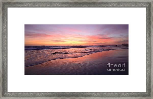 Surfer Afterglow Framed Print