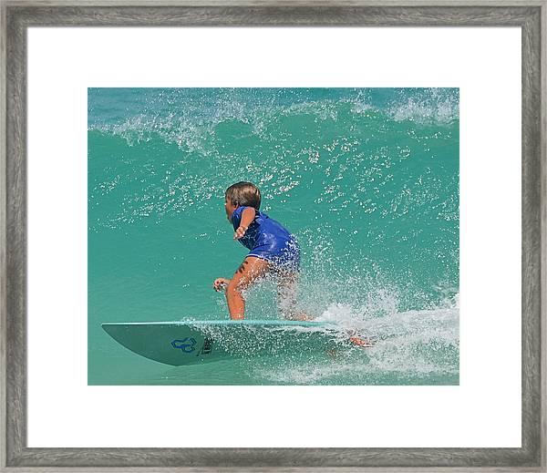Surfer Boy Framed Print