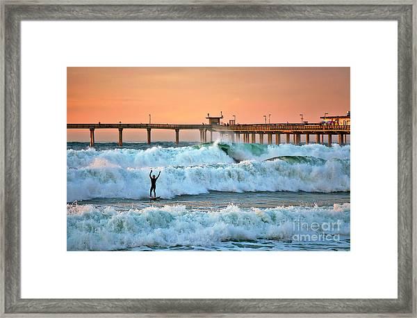 Surfer Celebration Framed Print