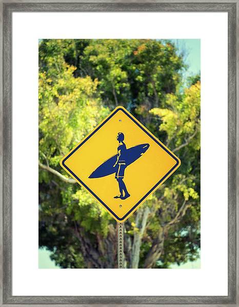 Surfer Xing 2 Framed Print