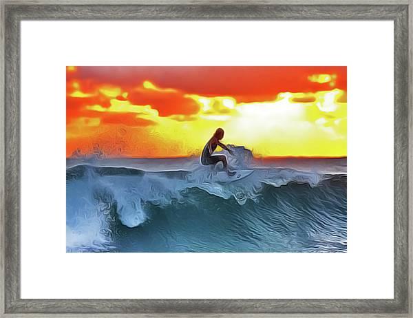 Surferking Framed Print