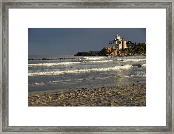 Surfers At Good Harbor Framed Print