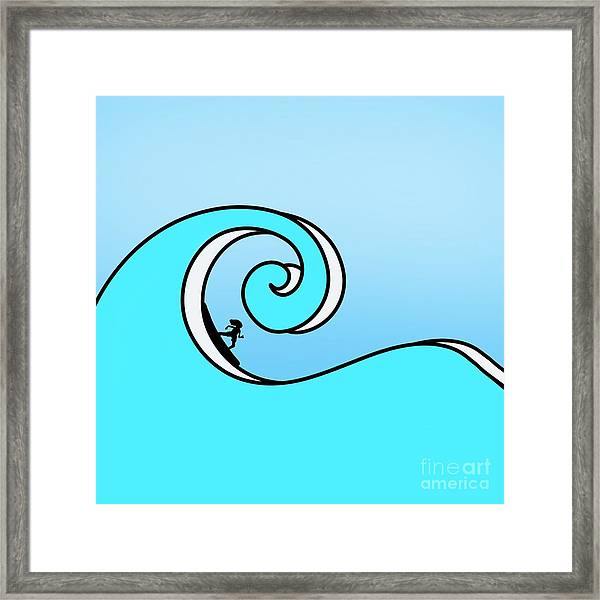 Surfing The Wave Framed Print