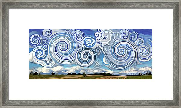 Surreal Cloud Blue Framed Print