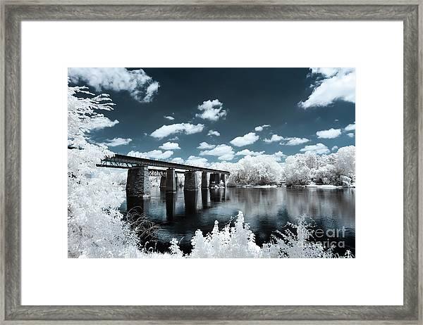 Surreal Crossing Framed Print