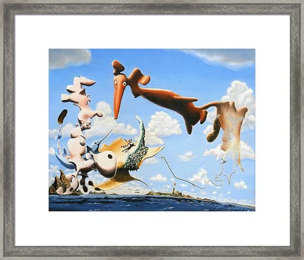 Surreal Friends Framed Print