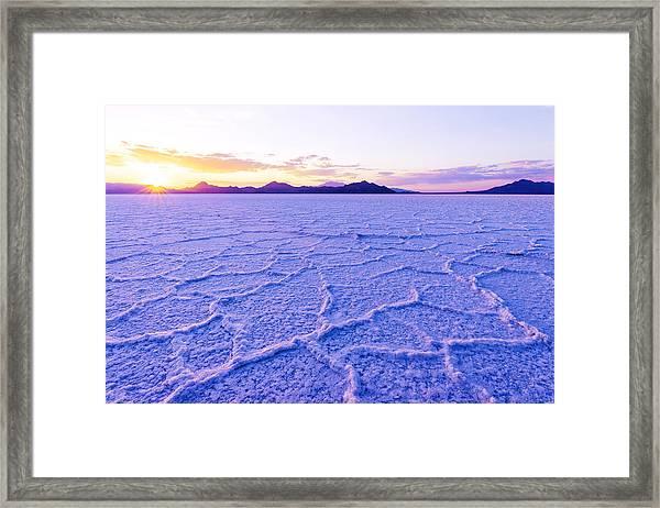 Surreal Salt Framed Print