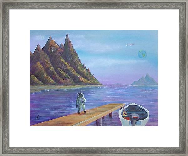Surreal Seascape Framed Print