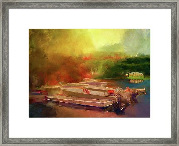 Surreal Sunset In Spanish Framed Print