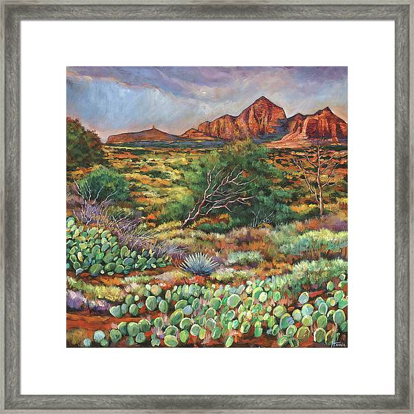 Surrounded By Sedona Framed Print