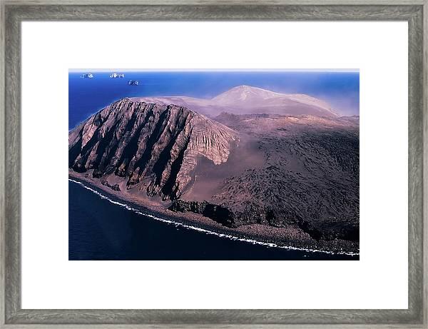 Surtsey In Iceland Framed Print