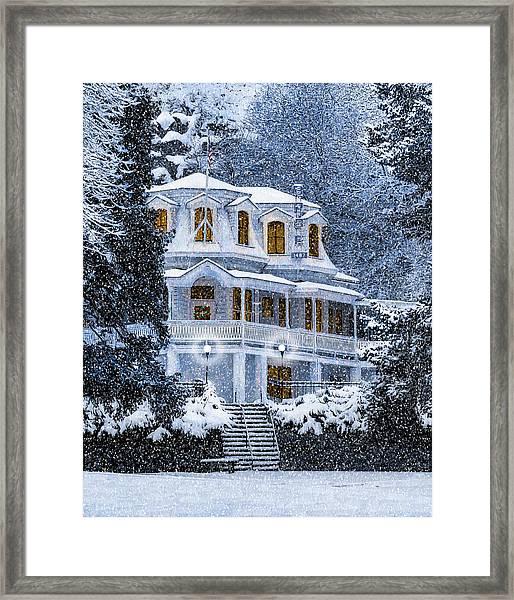 Susanville Elks Lodge At Christmas Framed Print