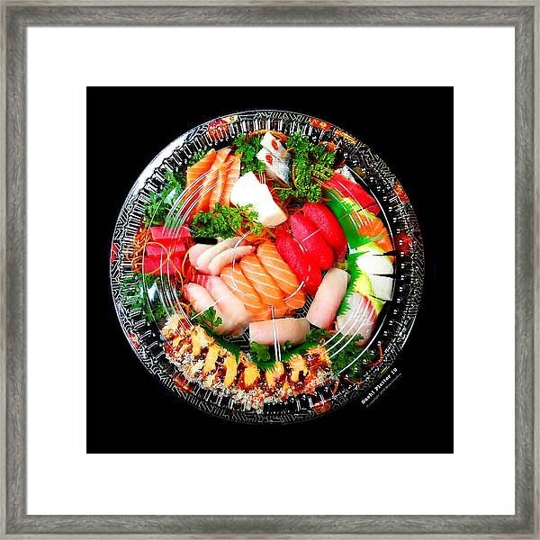 Framed Print featuring the photograph Sushi Platter 19 by Brian Gryphon