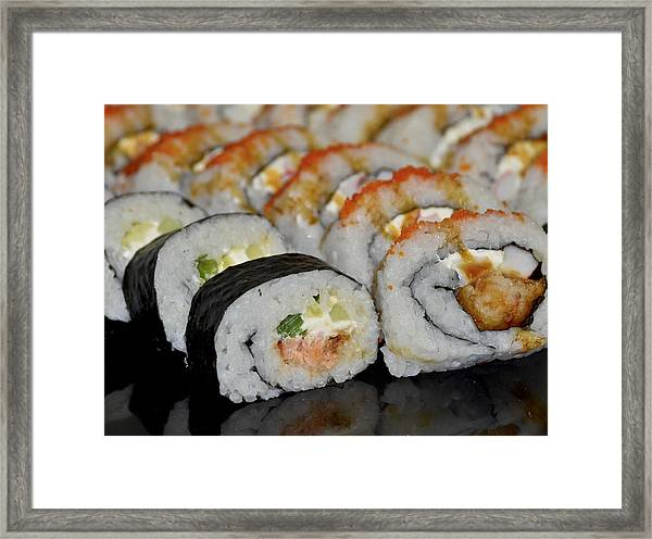 Sushi Rolls From Home Framed Print