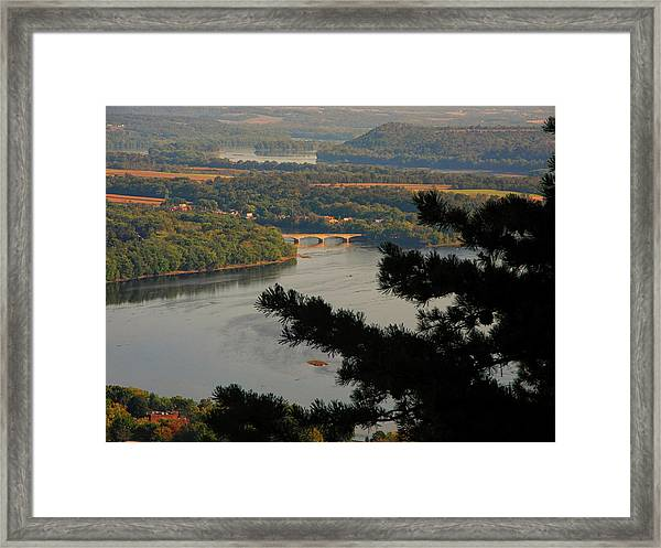 Susquehanna River Below Framed Print