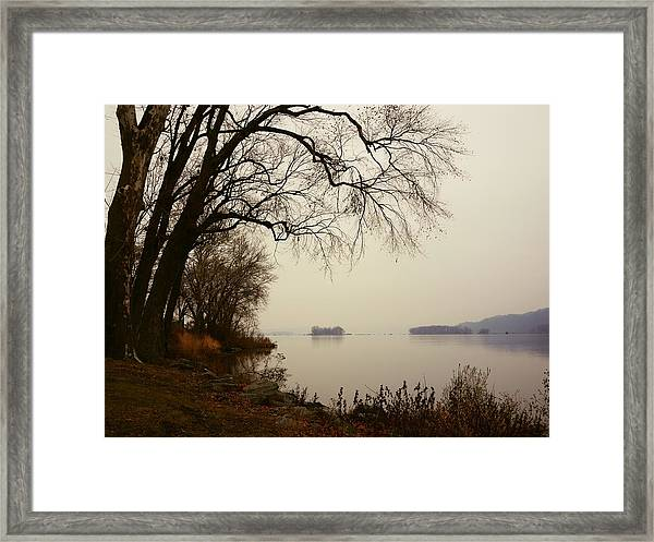 Susquehanna River Near Veterans Memorial Bridge Framed Print