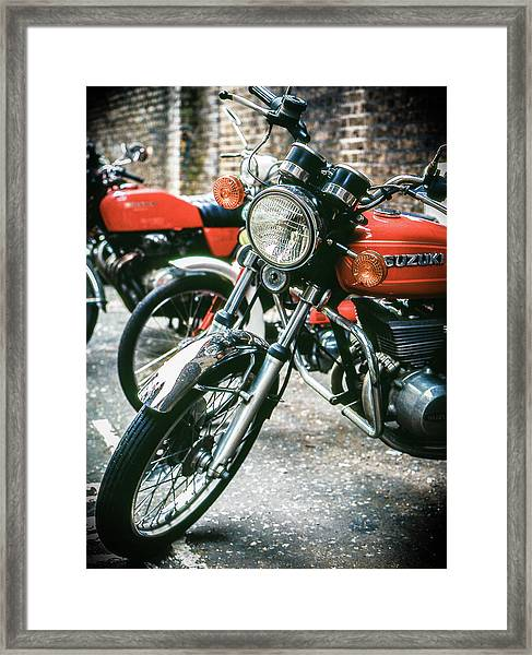Framed Print featuring the photograph Suzuki by Samuel M Purvis III