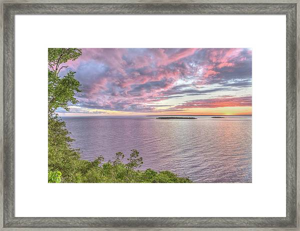 Sven's Bluff Sunset Framed Print