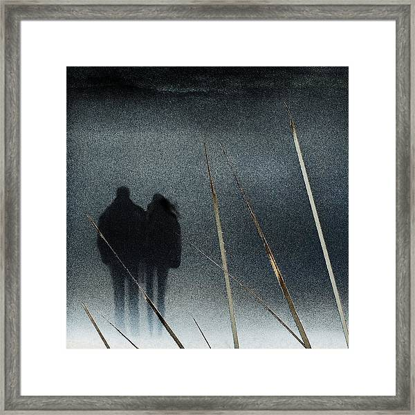 Swallowed By The Winter Framed Print
