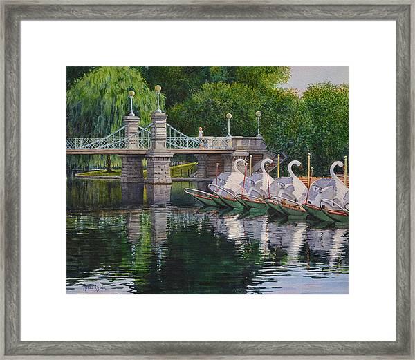 Swan Boats Boston Common Framed Print