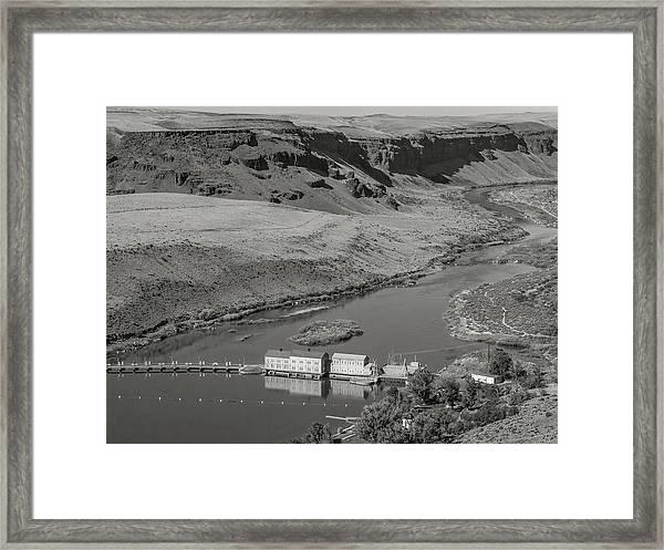 Swan Falls Dam Framed Print