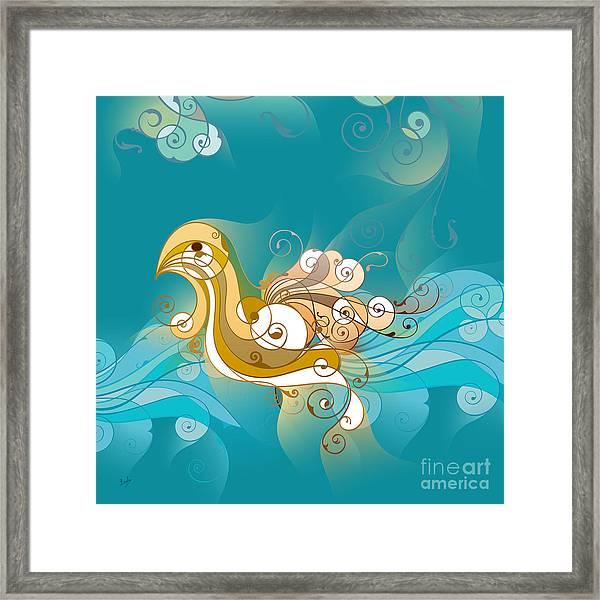 Swan Waves Framed Print