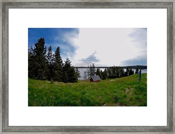 Swans Island Bay Framed Print