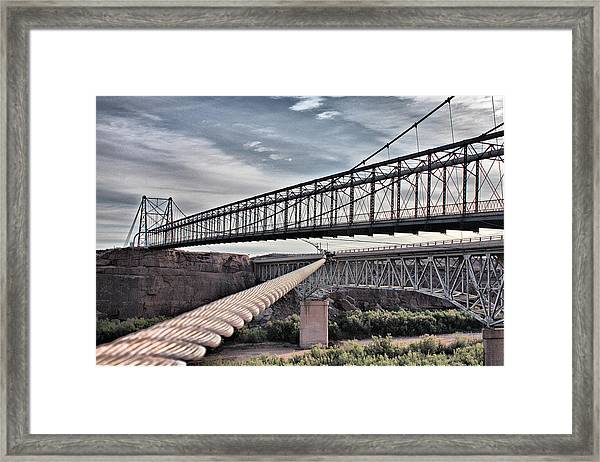 Swayback Suspension Bridge Framed Print