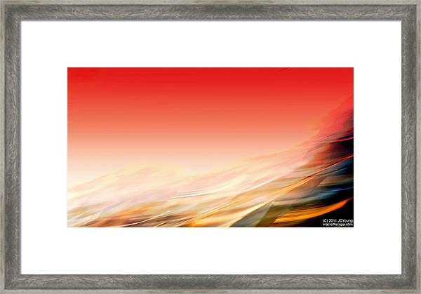 Sweeping Heat Framed Print by JCYoung MacroXscape