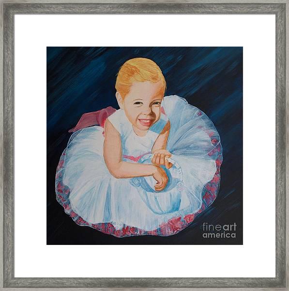 Sweet Flower Girl Framed Print