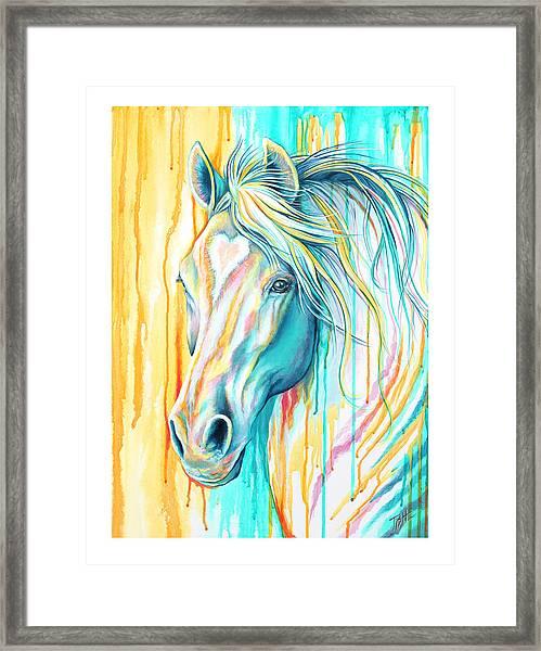 Sweet Heart Horse Framed Print